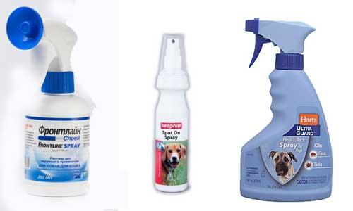 Аэрозоли от блох для собак